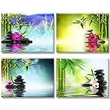 Piy Painting Cuadro en Lienzo en Zen on Canvas SPA Yoga Piedra...