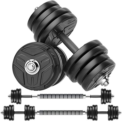 RUNWE Adjustable Dumbbells Set Weights Dumbbells Barbell Weight Free Weight Set 40/60/80/100 lbs Exercise Fitness Weight Sets Workout Strength Training with Connecting Rod for Home Gym Office