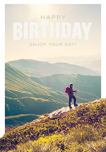 Geburtstagskarte Basic Classic - Wandern - 11,6 x 16,6 cm