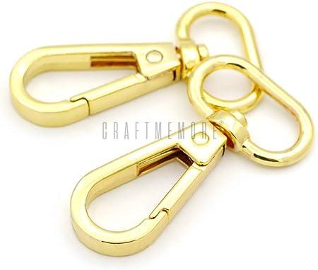 swivel clasps 4 pcs 1 inch gold swivel snap hook metal lobster clasp hook for handbags making