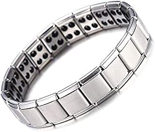 Zuipenglai Flexible stainless steel chain golden health healthy energy germanium magnetic bracelets, men's jewelry, men's ...