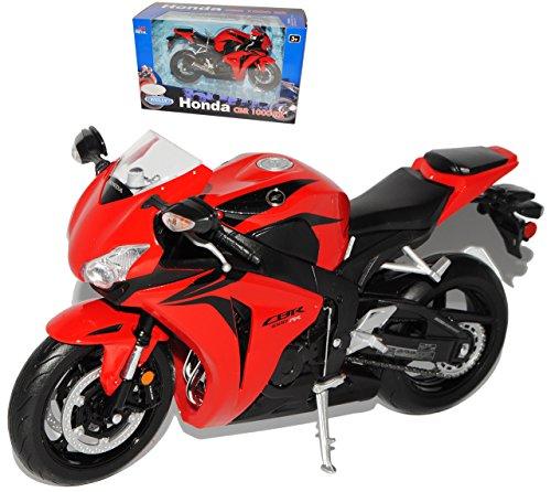 Welly Hon-da Cbr1000rr Cbr1000 Rr CBR 1000 Rr Rot 1/10 Motorradmodell Motorrad Modell