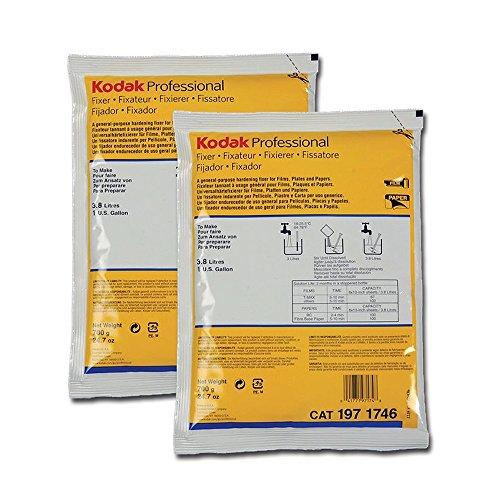 2-Pack Kodak Fixer for Black & White Film & Paper (Powder) Makes 2 Gallons
