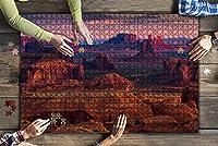 1000ピース ジグソーパズル 風景 記念碑の谷、アリゾナ、米国近く狩りメサ ナバホ部族陛下場所 子供 おもちゃ 室内 プレゼント 誕生日プレゼント 女の子 男の子 知育玩具