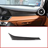 YUECHI Carbon Fiber Styling ABS for Alfa Romeo Giulia 2017 2018 Car Center Co-Pilot Decoration Cover Panel Trim Accessories for Left Handle Drive