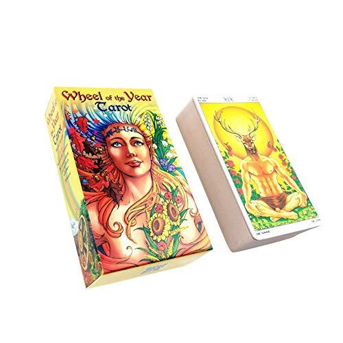 Neuheit Spielzeug Tarotkarten 78 Stück/Set, Rad Des Jahres Lesen Sie Schicksals-Tarot-Karte Für Den Persönlichen Gebrauch, Verbreitet Und Enthüllt Das Geheimnis Des Tarot