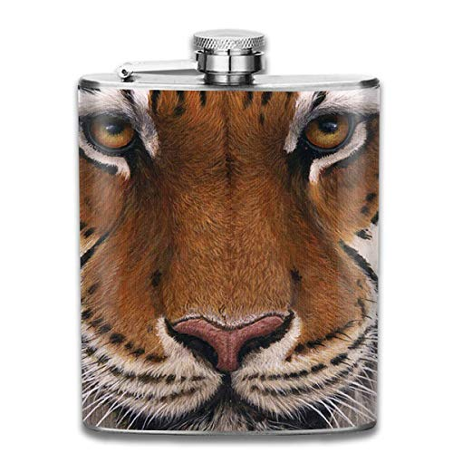 Presock Petacas,Siberian Tiger 7 Oz Printed Stainless Steel Hip Flask For Drinking Liquor E.g....