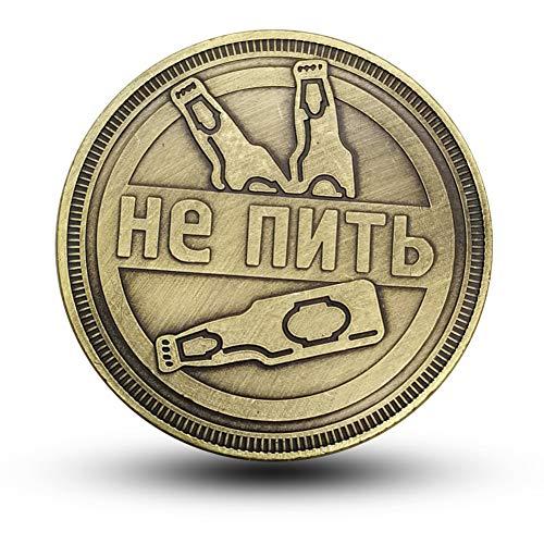 Russland,Bier,Gedenkmünzen,Beste Freunde,Geschenke,Münzen,Abzeichen,Wodka,Reliefs Entscheidungswährung/golden/Einheitlicher Code