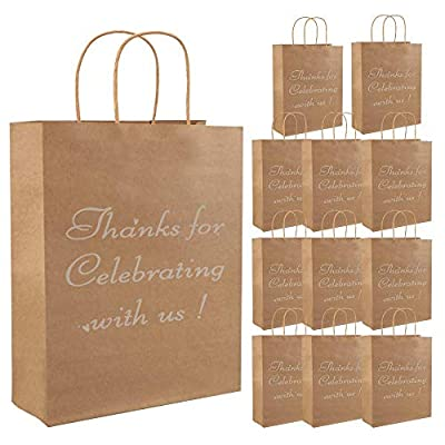 Bags Kraft Paper Bags with Sturdy Handles Thank 07042021064614