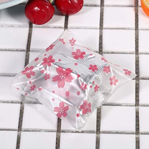 Biscuit Bag Biscottiera per biscotti, caramelle con dolci motivi floreali(Cherry blossom 7 * 7CM)