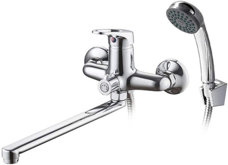 Wasserhahn Bad Dusche Wasserhahn Set verchromt Auslaufrohr Bad Dusche Wasserhhne Oberflche Messing innen Wasserhahn Kopf