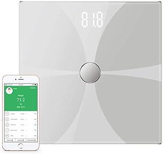 BANANAJOY Electronic Scales, Balanza Bluetooth Escala de Grasa Corporal, Smart Wireless Digital báscula de baño, Grandes Mediciones LCD retroiluminado de Alta precisión, 180Kg