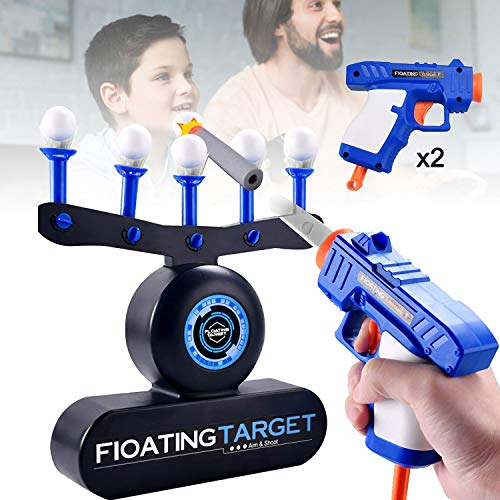 CD97YX02 Safety Floating Target Games New Shotting Toys for Boys Kids Adults, Luxury Shooting Blaster BallsToy Guns Darts Package Best Gifts for Boys and Girls (2 Guns Blue)