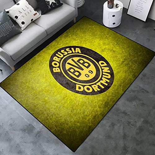 INSTUS Teppich Creative Einfach Kunst Dekoration Teppich Fußball Verein Logo Drucken Rutschfeste Matte Kinderzimmer Dekoration Fußbodenteppich / Dort2 / 120 × 160 cm