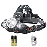 BORUIT RJ-3000 Super Bright 5000 Lumens Waterproof USB Rechargeable LED Headlamp Head Torch