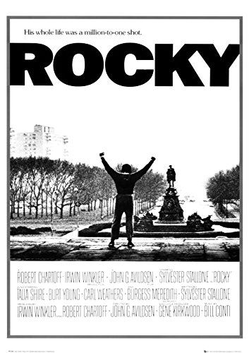 Close Up Rocky, Sylvester Stallone: C (1976) | US Filmplakat, Poster [59 x 84 cm]