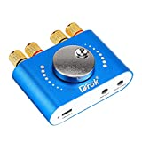 Blue~Tooth Amplifier, DROK 2 Channel Wire~Less Audio Stereo Receiver Board 50W+50W 12V 24V 2A, BT 5.0 Hi-Fi Mini Power Amp with Blue~Tooth/AUX/USB Input for Headset Speaker Home Sound System DIY