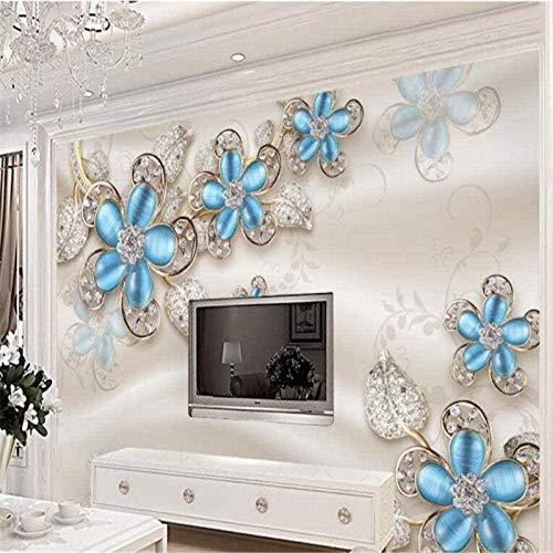 Benutzerdefinierte große 3D Luxus europäische Seide Perle Blume Tapete Wandbild schöne Wandaufkleber Sofa Hintergru Wanddekoration fototapete 3d Tapete effekt Vlies wandbild Schlafzimmer-300cm×210cm