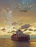 Ships 2020 Calendar: 14-Month Desk Calendar Showing Ships from Around the World