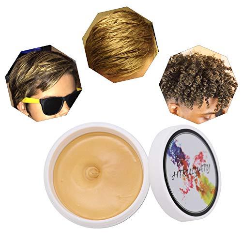 Gold Temporäre Haarfarbe Farbstoff Non-permanent DIY Haarfarbe Wachs Schlamm Washable Farbiges Haarfarbe Creme Für Party Cosplay Halloween