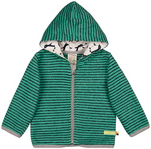 loud + proud Jungen Jacke Fleece Aus Bio Baumwolle, GOTS Zertifiziert Sweatjacke, Grün (Jade Jad), 68 (Herstellergröße: 62/68)