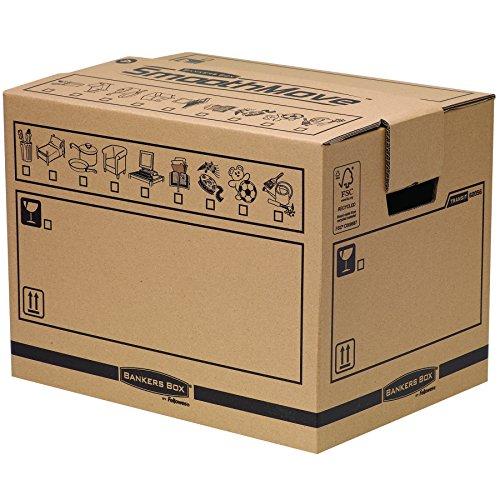 Bankers Box Umzugsbox SmoothMove klein (aus 100% recyceltem Karton, 10er Packung) braun thumbnail