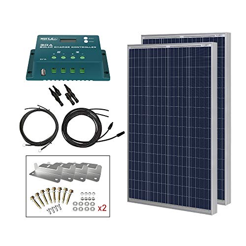 HQST 200 Watt 12 Volt Polycrystalline Solar...