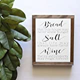 NOT BRANDED 20x29cm Personalized Framed Wood Sign, Wood Sign, Housewarming Gift, Bread Salt and Wine, Its A Wonderful Life Quote,Framed Wall Art, Rustic Wood Signs, Hand Painted Wood Sign-858833