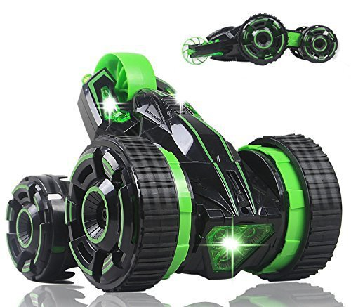 Liberty Imports Five Wheels RC Stunt Car Remote Control Racing Vehicle with LED Lights 20MPH High Speed 360 Degree Rotation