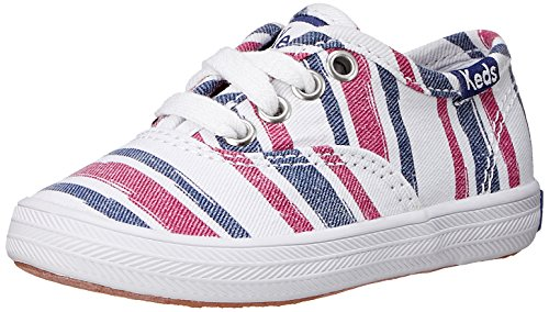 Keds Champion CVO Prints Sneaker (Toddler/Little Kid/Big Kid),Navy/Red Strip,10 M US Toddler