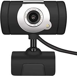 Aguoxing HD Webcam Web Camera Video, 360 Degrees HD Camera Digital USB Video Recorder with Mic Microphone Clip-on for Streaming, Chatting Webinars Gaming Distance Learning