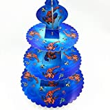 Partysanthe Spiderman 3-Tier Treat Tree Cupcake Stand Paper Cake Carrier
