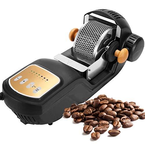 TTFGG Elektrischerkaffeeröster Kaffeebohnen,300G Kaffee Röstmaschine 1600W, Backgetriebe 1-7Speeds Einstellbar Für Kaffeebohnen Backen Haushaltsgebrauch