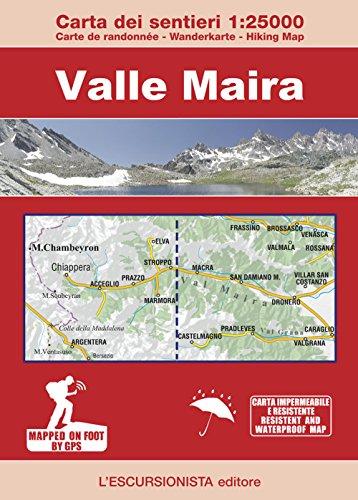 Valle Maira 1:25000. Carta dei sentieri-Carte de randonée-Wanderkarte-Hiking Map. Ediz. multilingue