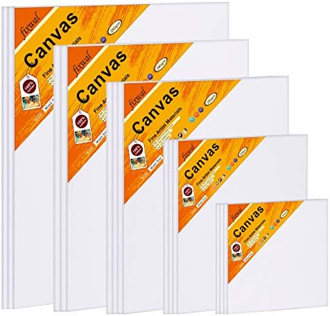 Canvas Boards for Painting Canvas Panels Multi Pack 100 Cotton 4x4 5x7 8x10 9x12 11x14 Inches product image