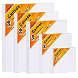 Canvas Boards for Painting Canvas Panels Variety Pack, 4x4, 5x7, 8x10, 9x12, 11x14 Inches, 18 Pack 3mm Thickness Canvas Value Multi Pack
