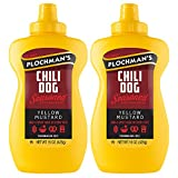 Plochmans Yellow Chili Dog Mustard, 15 Oz Bottle (2 Pack)