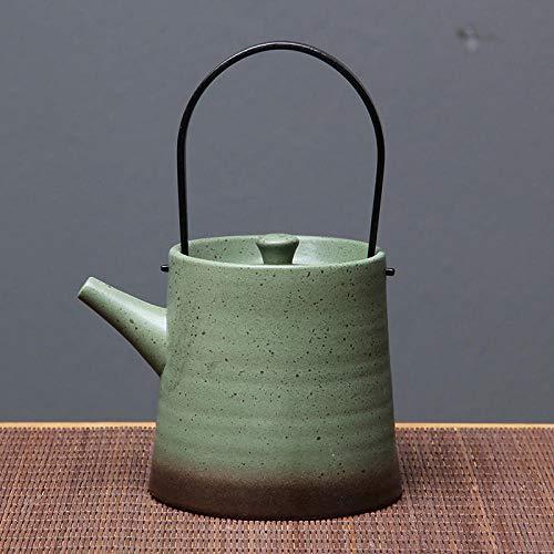 YDLX Tetera de cerámica Tetera Manual de cerámica, Tetera doméstica de gres, Juego de té Kungfu de cerámica Negra, Tetera Individual