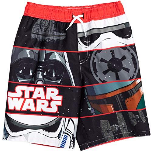 STAR WARS Darth Vader Stormtrooper Big Boys Swim Trunks Bathing Suit Black 8