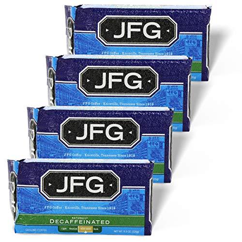 JFG Decaffeinated Medium-Dark Roast Ground Coffee 11.5 oz. Brick (Pack of 4)