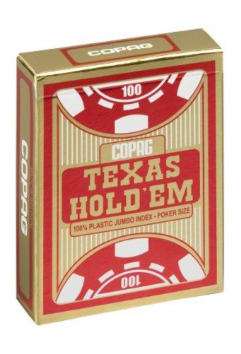 Copag 10.40.06.335 - Carte da gioco Texas Hold'em Gold Jumbo Face, 1 pezzo, Colori assortiti: Rosso / Nero
