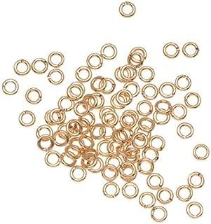 Beadaholique H20-1387FN 100-Piece Open Jump Rings, 3mm, 22-Gauge, 22K Gold