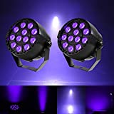♥ FOR BLACK LIGHT PARTY: 12 LED 36W bright for neon paint/ UV paints, glow themed party, perfect for both home or DJ use,really sturdy and affordable ♥ EFFECTS PAR LIGHT: The blacklight supports multiple Voice-activated / Auto / DMX (DMX channels: 5 ...