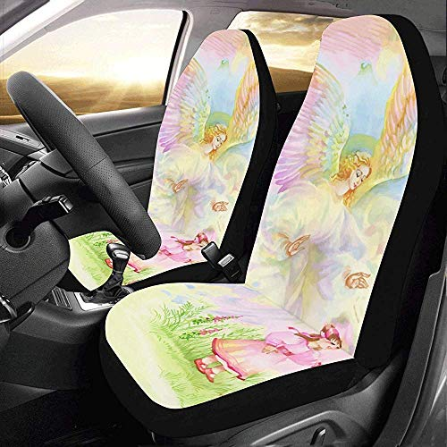 Autohoezen grote engel komen in de kerst te sturen wensen auto stoelhoezen beschermer auto cover