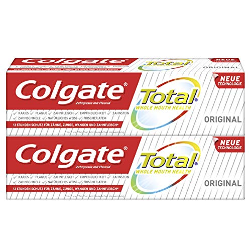 Colgate Total Original tandpasta dubbelpak, 2-pack (2 x 75 ml)