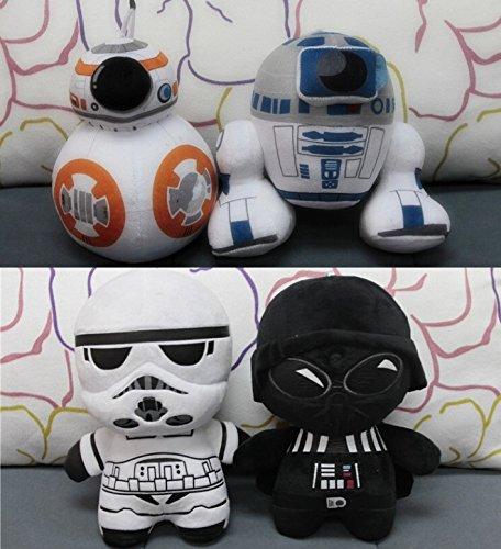 Nido del Bimbo 1133 - [R2D2] Peluche Saga Star Wars 3D Con Ventosa - Morbidissimo - Dettagliato - Colori Originali - La forza sia con te!