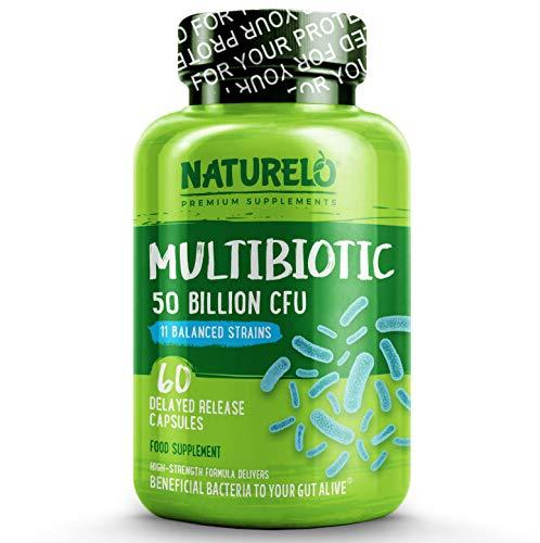 NATURELO Probiotic 50 Billion CFU 11 Strains, 0.06805 kg, 60 Units