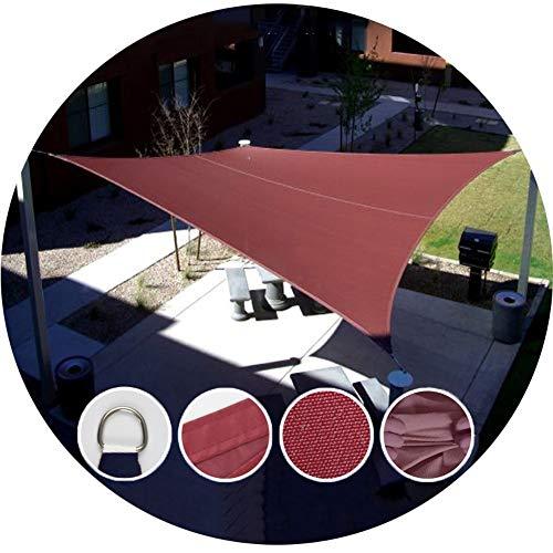 Shade Sails NEVY - rechthoek luifels waterdicht Polyester Outdoor Tarps Tents Tuin Terras Zwembad Zonnebrandcrème Schaduw Kleding,4 Kleuren 5x7m Wijn Rood
