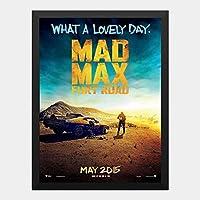 ハンギングペインティング - マッドマックス2015 MADMAX 怒りのデスロード 1のポスター 黒フォトフレーム、ファッション絵画、壁飾り、家族壁画装飾 サイズ:33x24cm(額縁を送る)