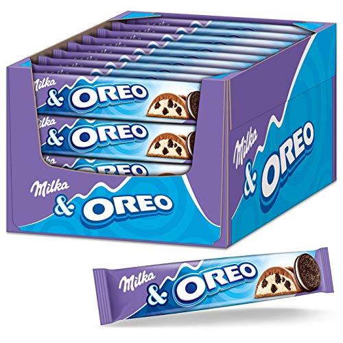 Milka Schokoriegel Milka & OREO 36 x 37g, Riegel mit Oreo Keksstückchen in Milchcrème